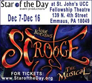 SCROOGE THE MUSICAL In St Johns UCC Fellowship Theatre