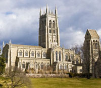 In the Bryn Athyn Cathedral there are no right angles or straight lines. The walls of the building are skewed against each other, bowing out in the middle only to return at the opposite wall. This subtle quality represents the unpredictable path of human growth. This spiritual principle is the very foundation of the design of this web site. We welcome you and invite you to come again.
