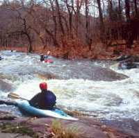 Tohickon Creek flows through the 45-acre Ralph Stover State Park, making a scenic picnic area. The nearby High Rocks section of the park is a lovely overlook of the Tohickon Creek.