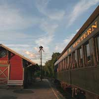Round trip train rides between Flemington and Ringoes NJ, plus charters and special excursions, such as Santa Claus and Easter Bunny trains.  The summer round trip rides are 75 minutes through scenic countryside, with a helpful and informative crew to make the excursion a real pleasure.  Cost is very reasonable.  Trains can be boarded at the Ringoes or Flemington (Liberty Village) stations, with full directions on the website.